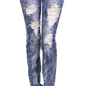 ✨Torrid Acid Washed Distressed Boyfriend Jeans